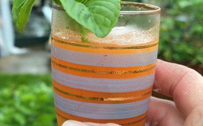 Gulrotjuice med ingefær og mynte