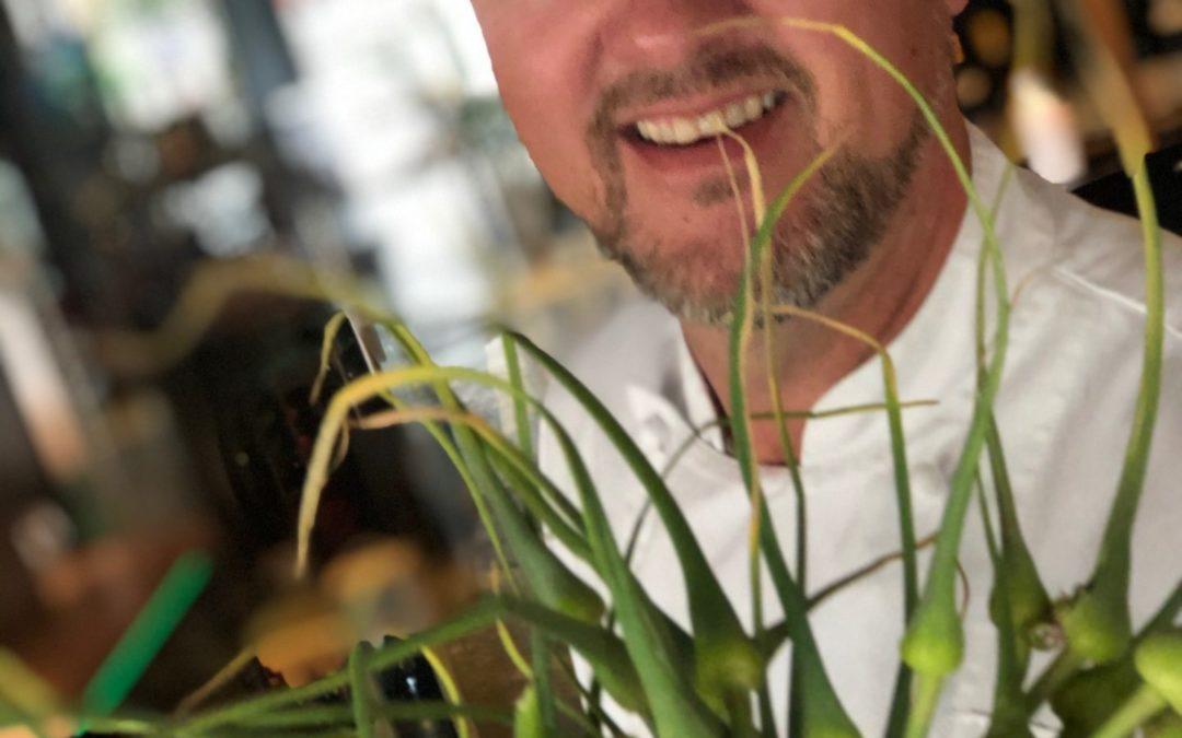 Hvitløksblomsten er en delikatesse